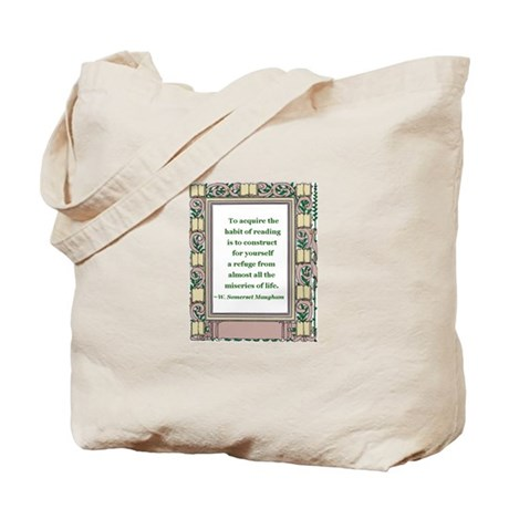 The Habit of Reading Tote Bag