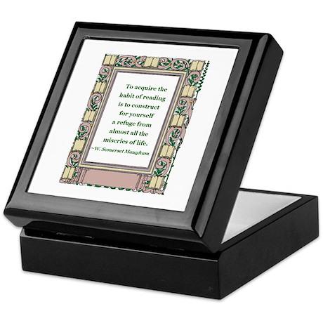 The Habit of Reading Keepsake Box