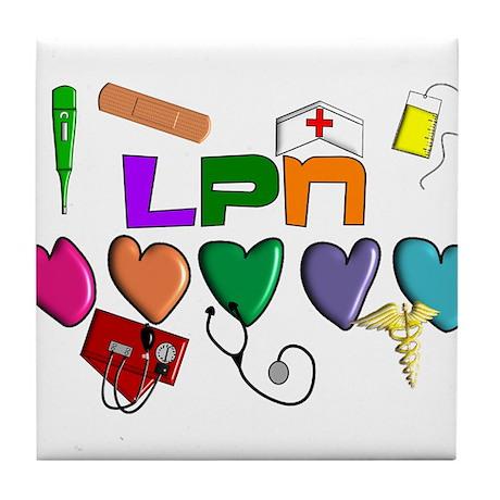 Licensed Practical Nurse Tile Coaster