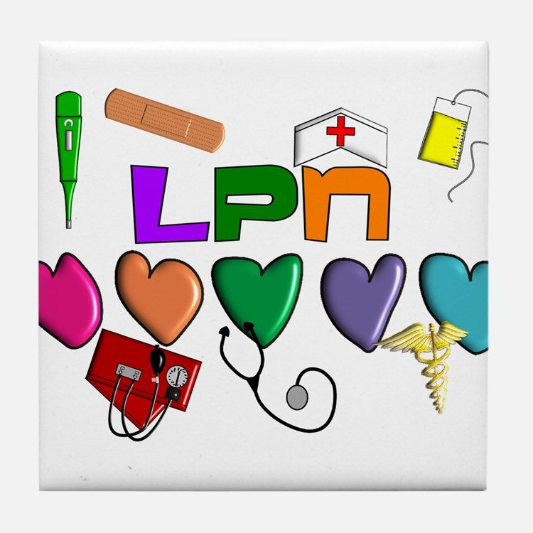 Licensed Practical Nurse Tile Coaster
