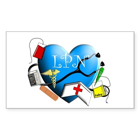 Licensed Practical Nurse Sticker (Rectangle)