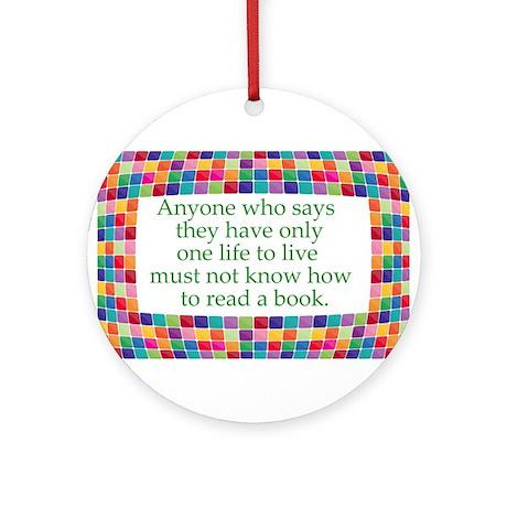 Read A Book Ornament (Round)
