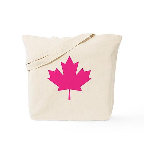 Pink Maple Leaf Tote Bag