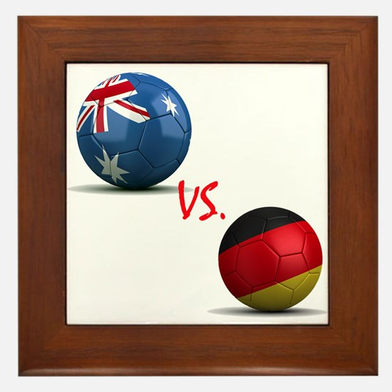 Germany vs Australia Framed Tile