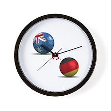Germany vs Australia Wall Clock