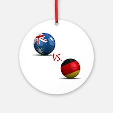 Germany vs Australia Ornament (Round)