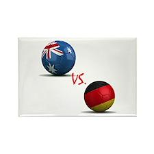 Germany vs Australia Rectangle Magnet