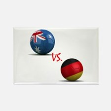 Germany vs Australia Rectangle Magnet