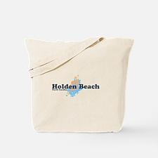 "Holden Beach NC ""Seashells"" Design Tote Bag"