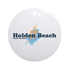 "Holden Beach NC ""Seashells"" Design Ornament (Round"