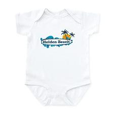 "Holden Beach NC ""Surf"" Design Infant Bodysuit"