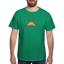 "Holden Beach NC ""Sun and Palm Trees"" Design T-Shirt"