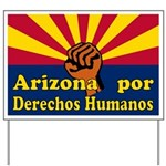 Arizona Derechos Humanos Yard Sign