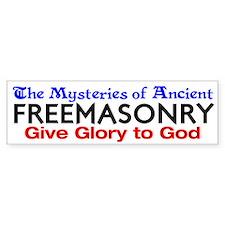 Mysteries of FreeMasonry Bumper Bumper Sticker