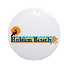 "Holden Beach NC ""Beach"" Design Ornament (Round)"