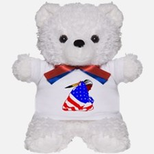 Wrapped In American Flag Teddy Bear