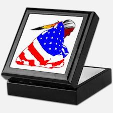 Wrapped In American Flag Keepsake Box