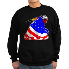 Wrapped In American Flag Sweatshirt