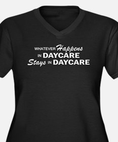 Whatever Happens - Daycare Women's Plus Size V-Nec