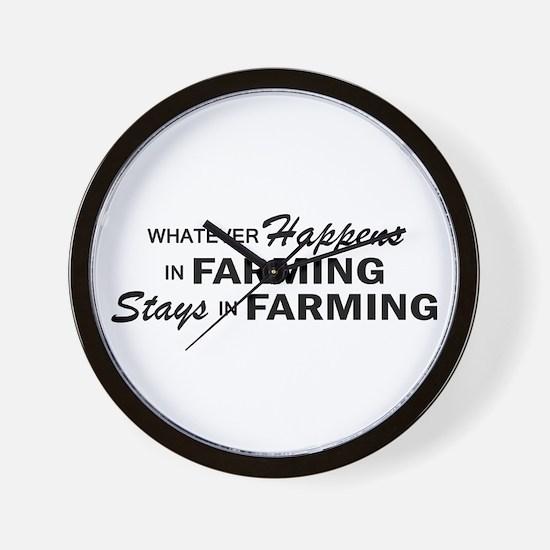 Whatever Happens - Farming Wall Clock