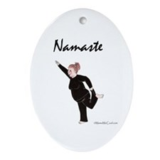 Cute Yoga poses Ornament (Oval)