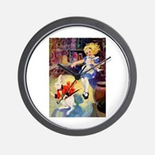 ALICE GOES DOWN THE RABBIT HOLE Wall Clock