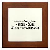 English teacher Framed Tiles