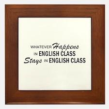 Whatever Happens - English Class Framed Tile