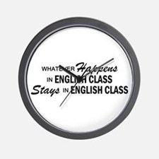 Whatever Happens - English Class Wall Clock