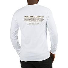 Amazing Grace - hymn lyrics (Long Sleeve T-Shirt)