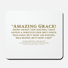 Amazing Grace - hymn lyrics (Mousepad)