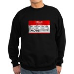 Hello My Name is Mom, Mom, Mom Sweatshirt (dark)