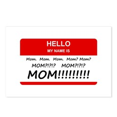 Hello My Name is Mom, Mom, Mom Postcards (Package