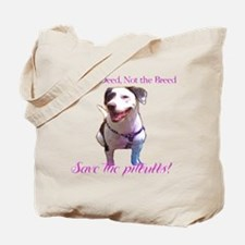 Ban the Deed, Not the Breed tote back