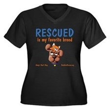 My Favorite Breed Women's Plus Size V-Neck Dark T-