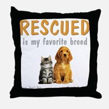 My Favorite Breed Throw Pillow
