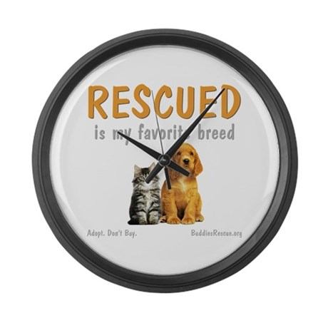My Favorite Breed Large Wall Clock