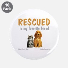 """My Favorite Breed 3.5"""" Button (10 pack)"""