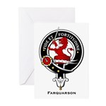 Farquarson Clan Crest Badge Greeting Cards (Packag