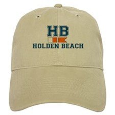"Holden Beach NC ""Nautical Flags"" Design Baseball Cap"