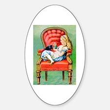 ALICE & HER CAT, DINAH Sticker (Oval)