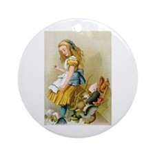 ALICE TIPS THE JURY BOX Ornament (Round)