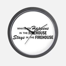 Whatever Happens - Firehouse Wall Clock
