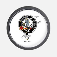 Elliot Clan Crest Badge Wall Clock