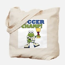 Frog Soccer Champ Tote Bag