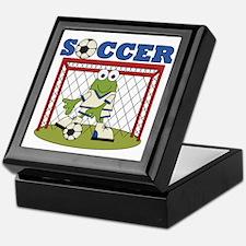 Frog Soccer Goalie Keepsake Box