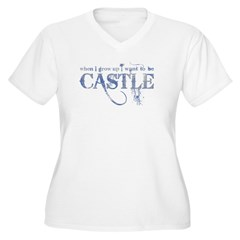 Castle Gray Blue on T-Shirt