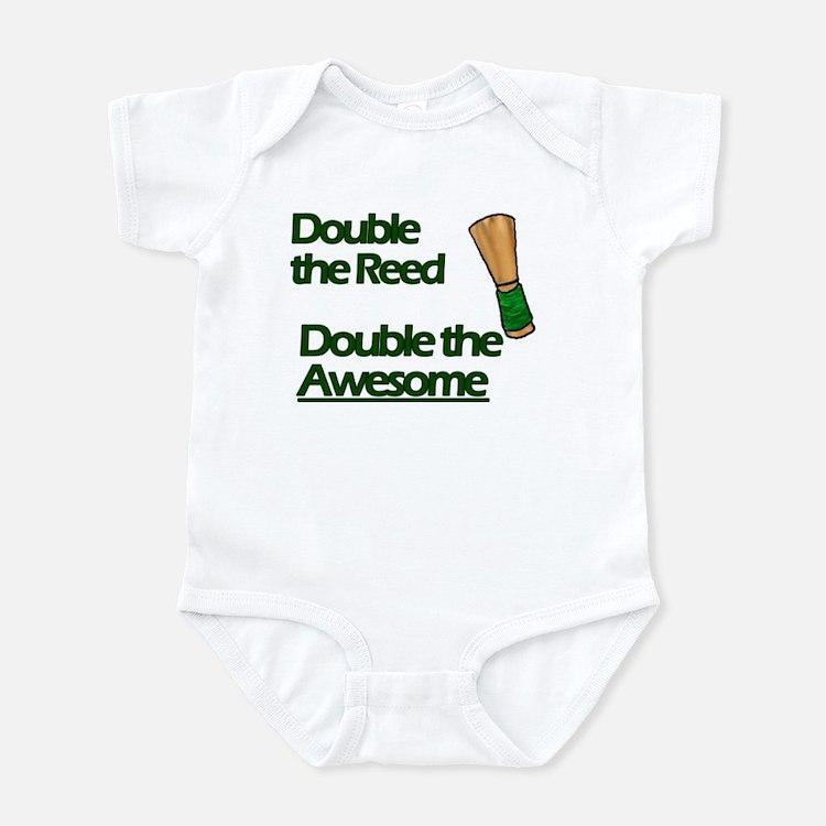Cute Double reed Infant Bodysuit