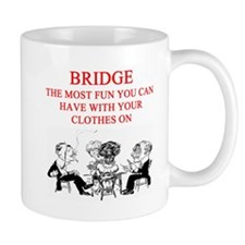 duplicate bridge player joke Small Mug