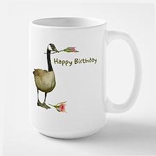 Canada Goose With Rose Large Mug